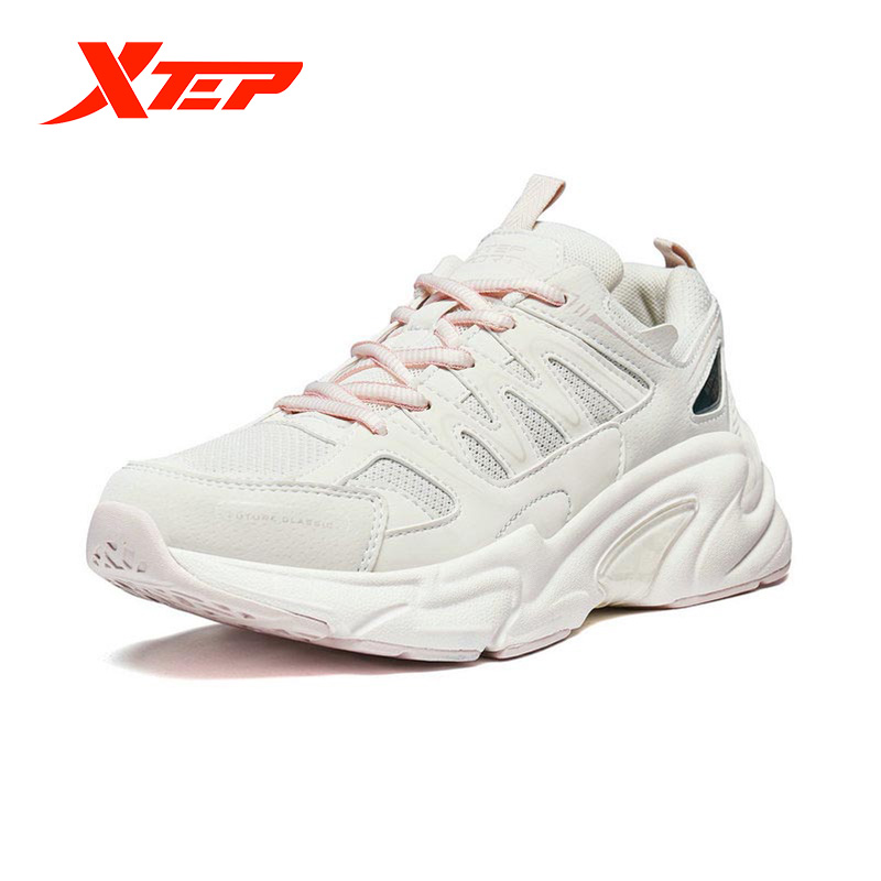 Xtep Women's Casual Shoes Summer Sports Chunky Sneakers Shoes Women's Breathable Casual Old Sneakers 881318329127 3