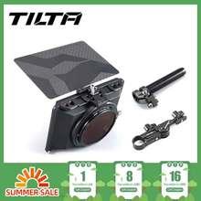 В наличии, наклонная мини Матовая коробка Для беззеркальных цифровых зеркальных камер, крышка объектива Tilta, аксессуары