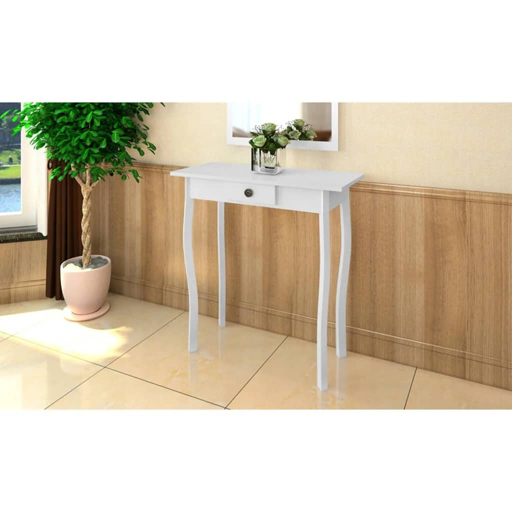 VidaXL Console Table MDF White