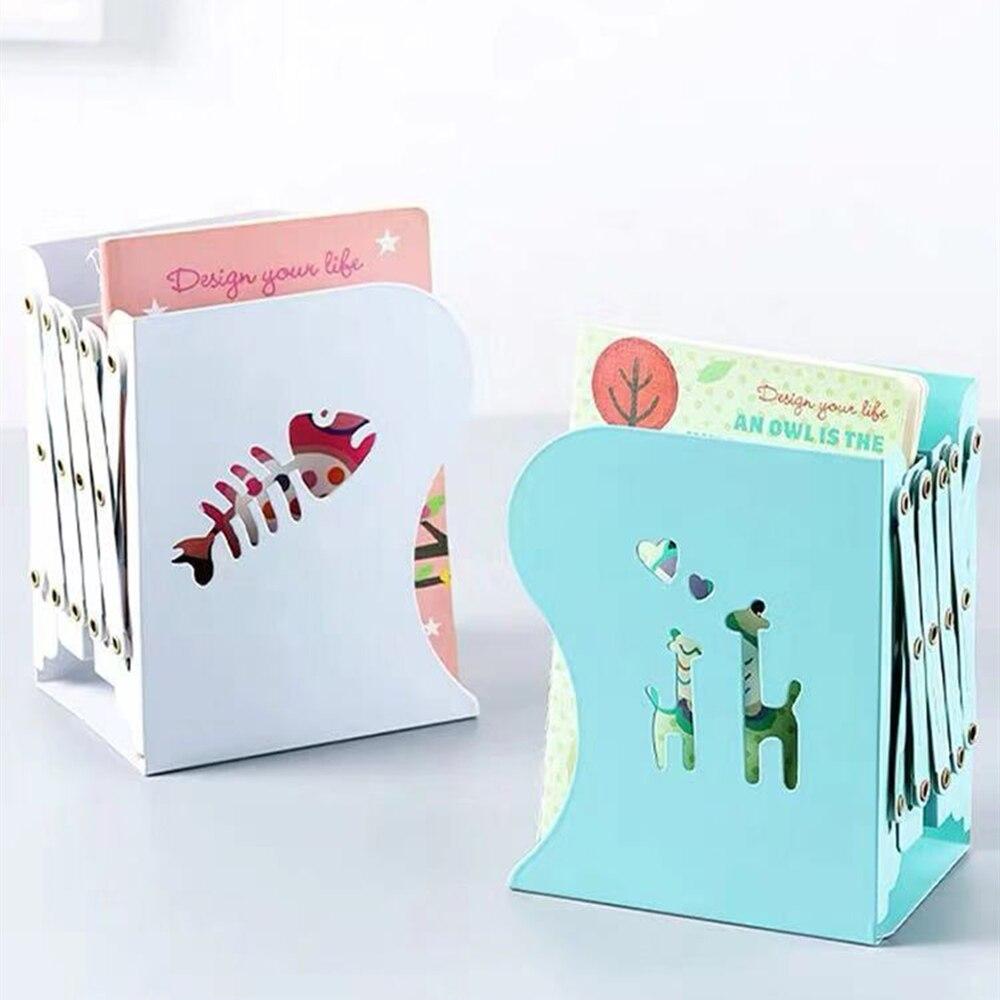 Adjustable Books Stand Cartoon Hollow Desktop Organizer Bookends Book Ends Support Stand Holder Shelf Book Rack Office Supplies
