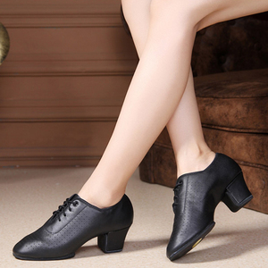 Image 5 - 5 センチメートルヒール天然皮革の女性のタンゴフラメンコ · ダンス教師の靴女の子ワルツタンゴフォックストロットダンスドレスクイックステップダンスシューズ