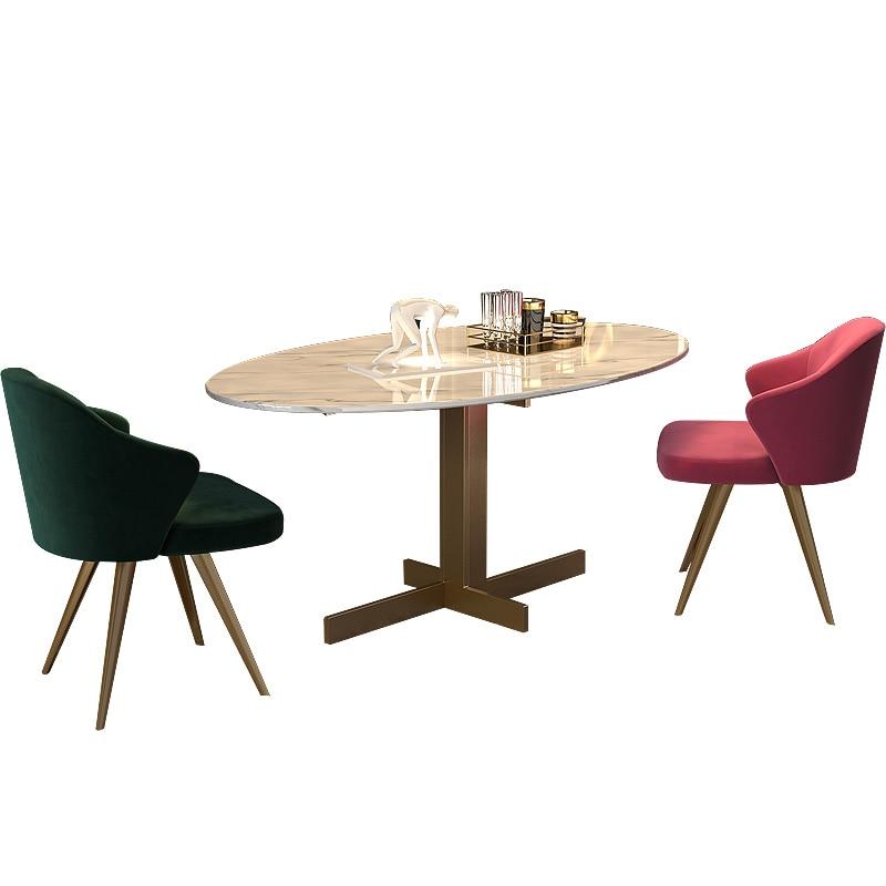 Light luxury postmodern dining chair nordic velvet chair designer chair simple back armchair leisure chair negotiation chair