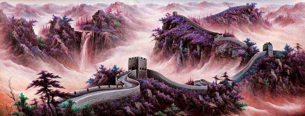 5d diy алмазная живопись пейзаж Великая китайская стена полная