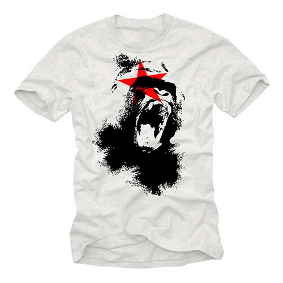 Cool Planet Aap Mens T Shirt Met Apes-Korte Mouw Gorilla Film Tee Tops Tee Tee Shirt