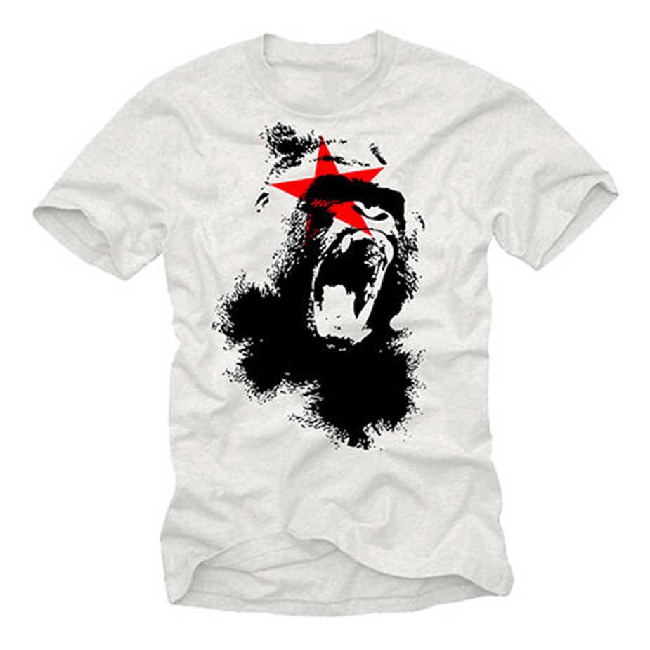 Cool Planet Aap Mens T Shirt Met Apes-Korte Mouw Gorilla Film Tee Tops Tee Tee Shirt