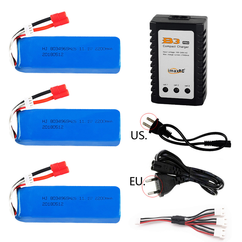<font><b>11.1V</b></font> <font><b>2200mah</b></font> <font><b>lipo</b></font> <font><b>Battery</b></font> 803496 with Charger For BAYANGTOYS X16 X21 X22 RC Quadcopter Spare Parts 11.1 V high capacity <font><b>battery</b></font> image