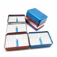 Nuevo 120 agujeros Dental Endo archivo Bur titular bloque Autoclave esterilizador caja de desinfección con regla