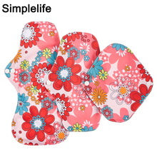 Different Size Women Reusable Menstrual Pads Bamboo Charcoal Inner Absorbent Waterproof PUL Panty Liner Washable Sanitary Napkin