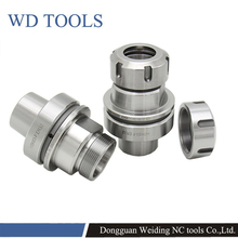 HSK63F ER16 ER20 ER25 ER32 ER40 HSK63 80L 70L 100L collet chuck engrave tools holder CNC lathe mill Spring collet chuck hsk63f er32 collet chuck er32 tool holder cnc milling lathe chcuk tool 1pc new