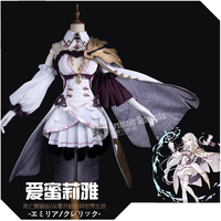 Anime SINoALICE Cooperate With Emilia Uniforms Gothic Uniform cloak+socks Cosplay Costume Halloween Carnival Free Shipping 2020