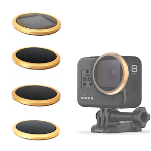 Image 1 - CPL ND8 ND16 ND32 nötr yoğunluk Lens filtre Sticker kapak Gopro Hero 8 siyah eylem kamera filtreleri aksesuarları