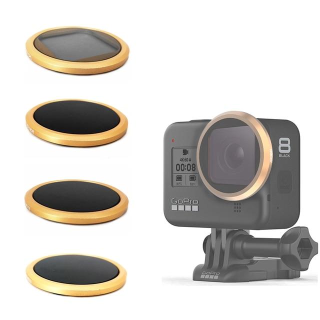 CPL ND8 ND16 ND32 nötr yoğunluk Lens filtre Sticker kapak Gopro Hero 8 siyah eylem kamera filtreleri aksesuarları