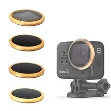 CPL ND8 ND16 ND32 neutralna gęstość filtr obiektywu naklejka pokrywa dla Gopro Hero 8 czarny akcja filtry kamery akcesoria
