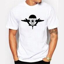 50011# вдв эмблема футболка мужская майка футболки мужские белый футболка топ летняя футболка мода прохладно шею с коротким рукавом
