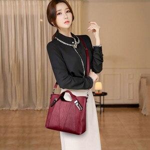 Image 2 - Luxury Soft Leather Handbag Women Bag Designer Female Crossbody Bag High Quality Famous Brand Shoulder Bags for Women Tote Bags