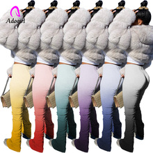 2020 Hot Sale Women's Ruched Pants High Waist Stacked Pants