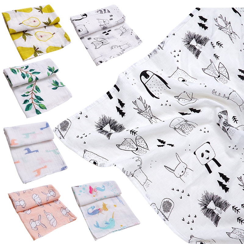 Muslinlife 2020 New Style Bamboo Cotton Baby Blanket Bibs Bandana Soft Infant Burp Cloths Kerchief Newborn Wrap Swaddle Scarf
