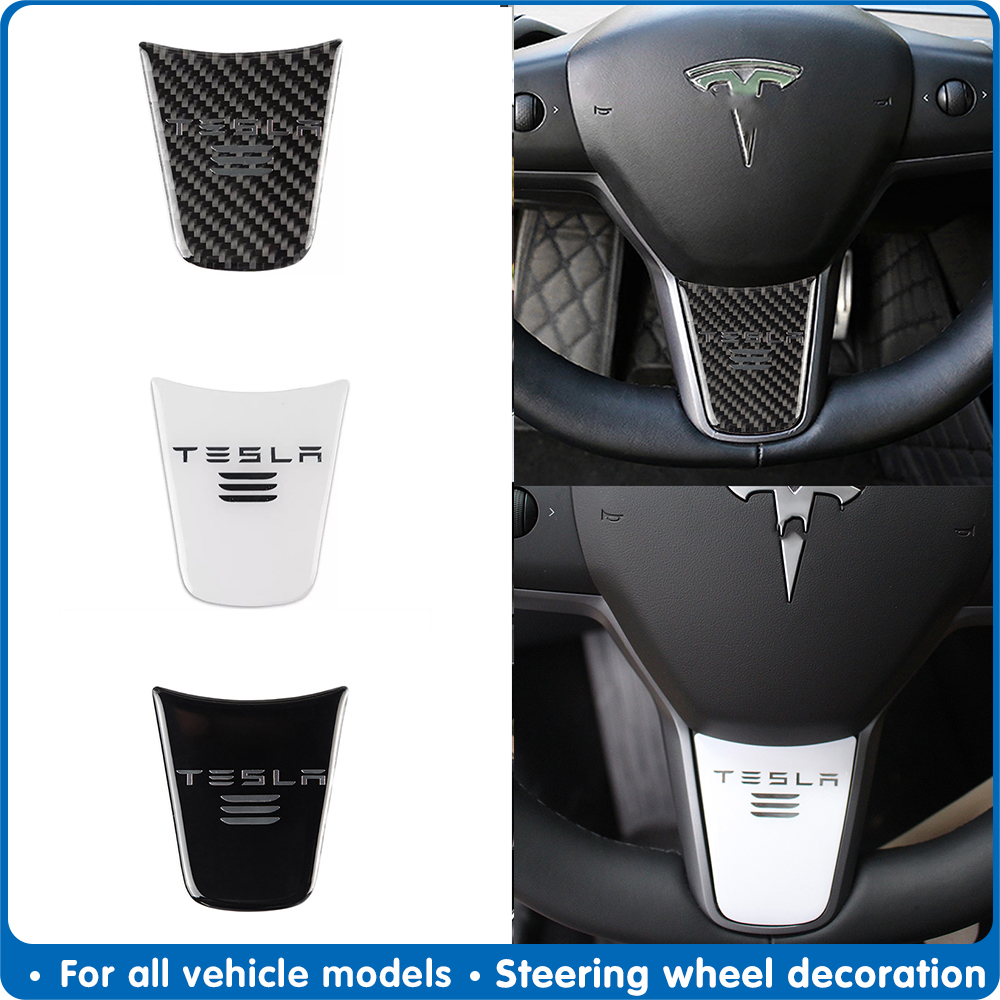 Model 3 Styling Auto Steering Wheel Decoration Cover Sporty Modification Sticker Accessorie for Tesla Model3 Car Accessories