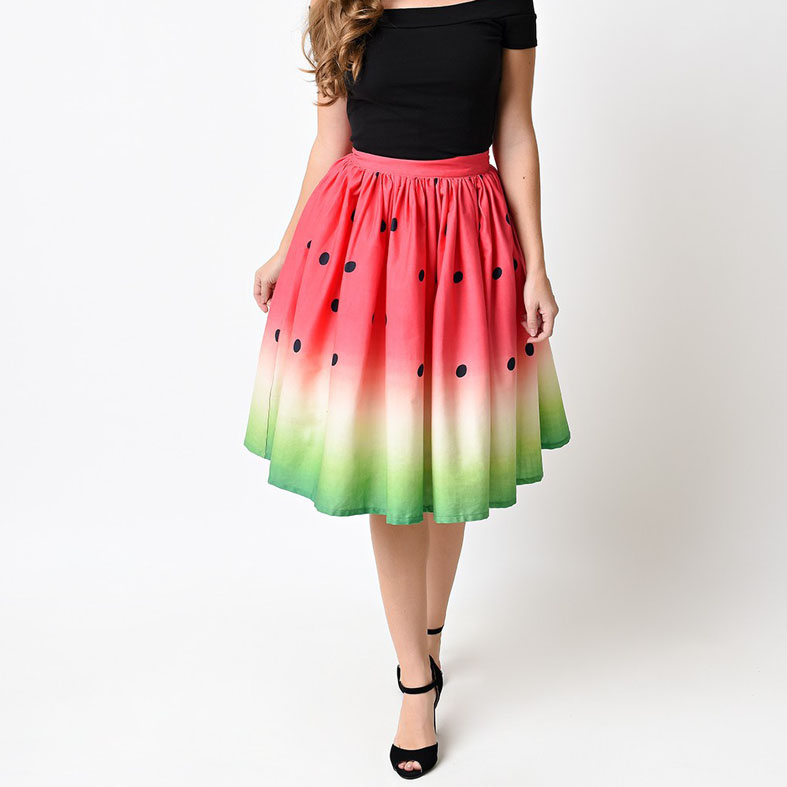Cool Watermelon Summer Style Skirt 1