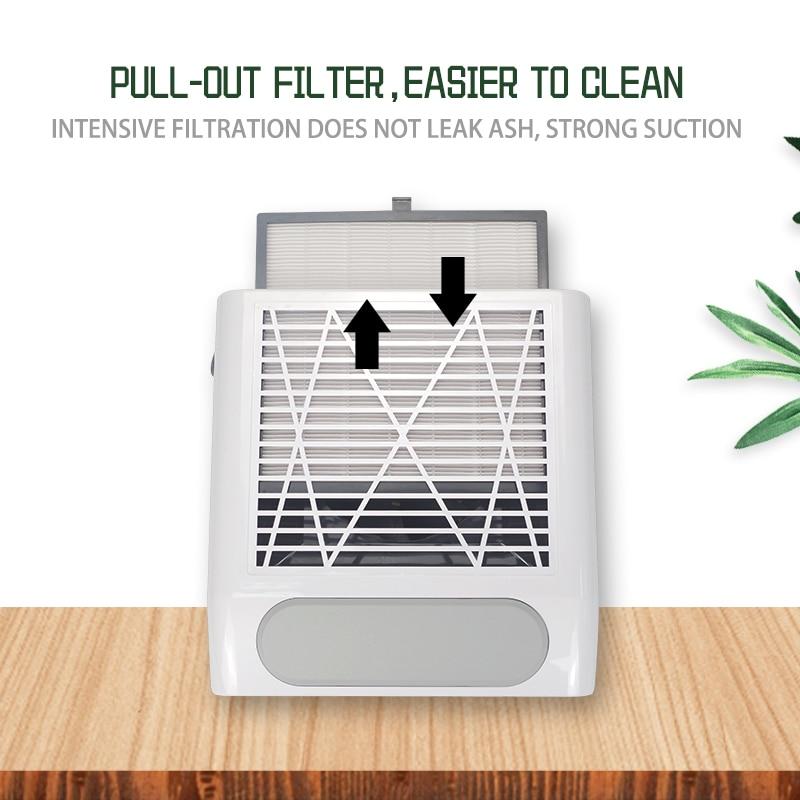 80 Вт ногтей пылесборник вентилятор пылесос, машинка для маникюра, инструменты с фильтром сильный Мощность инструмент искусства ногтя пылесос 3