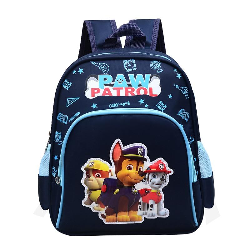 Paw Patrol Bag Cartoon Action Figure Backpack Skye Everest Marshall Ryder Chase Print Cute Anime Kindergarten Children Toy Bag7D