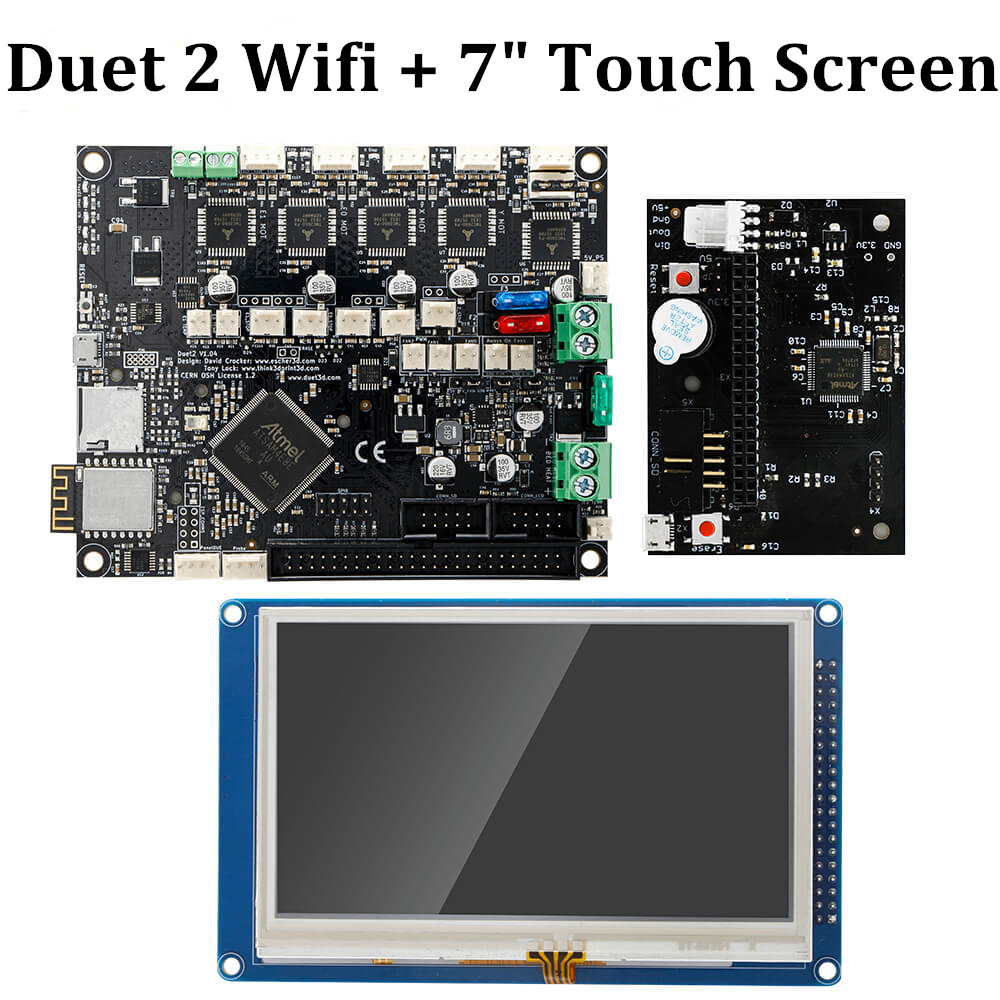 Duet 2 Wifi V1.04 Motherboard Clone Reprap Firmware 32bit Duet2 WiFi Board + 4.3Panel Touch Screen Controller 3D Printer Parts image