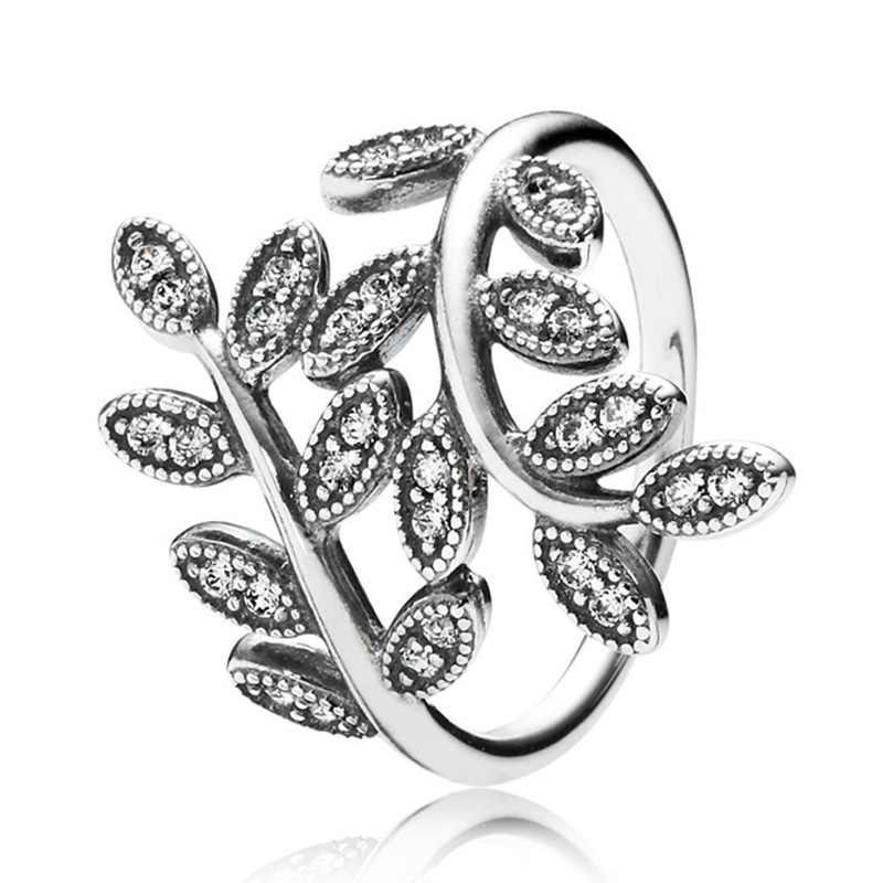Pierścionek ze srebra próby 30% róża promienna ponadczasowa elegancja delikatny łuk z kryształowym pierścieniem 925 srebro biżuteria DIY europa