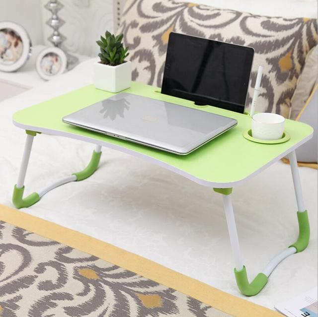 Складной стол для ноутбука с отверстием слота портативный кровати
