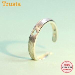 Trusta женское кольцо из 100% стерлингового серебра 925 пробы, модное ювелирное изделие с сердечком, коктейльное кольцо, размер 4 5 6, подарок на Рож...