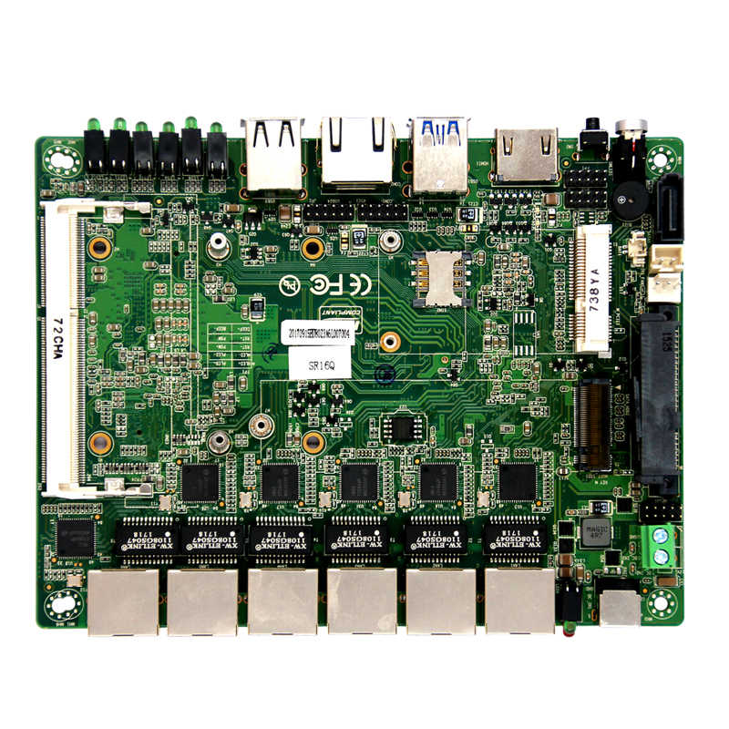 Core i7-4500U CPU 6 ethernet ports motherboards ddr3 embedded pfsense firewall motherboards with 6*USB