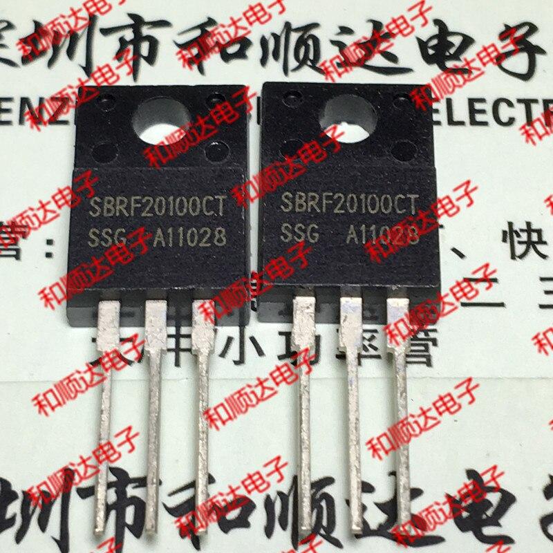 10pcs/lot SBRF20100CT New Spot TO-220F SCHOTT 100V 20A
