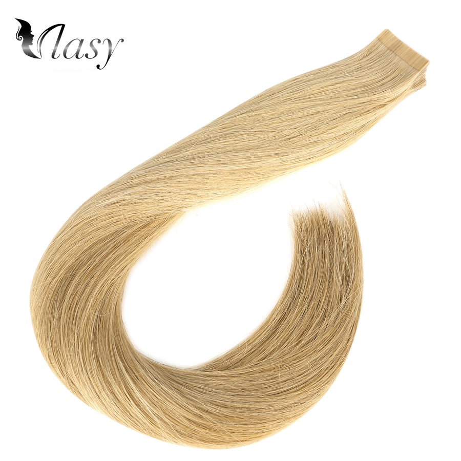 Vlasy 20'' Double Drawn Tape In Human Hair Extensions Real Remy Skin Weft Adhesive On Human Hair 2.5/pc