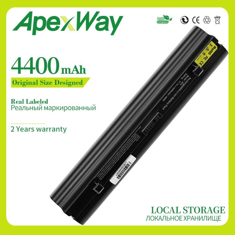Apexway 4400mAh NEW laptop battery for Lenovo IdeaPad S10 S10e S12 S9 S9e Series 45K127 51J039 45K1275 45K2177 L08S3B21 L08S6C21(China)
