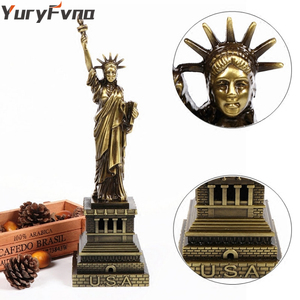 YuryFvna Vintage Metal Statue of Liberty Model Replica Bronze Liberty Figurine New York Souvenirs Home Office Desktop Decor