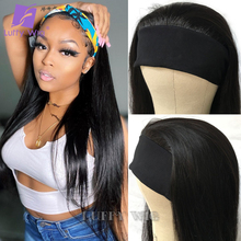 Wigs Headband Half-Wig Human-Hair Luffywig Glueless Full-Machine Brazilian Made Straight