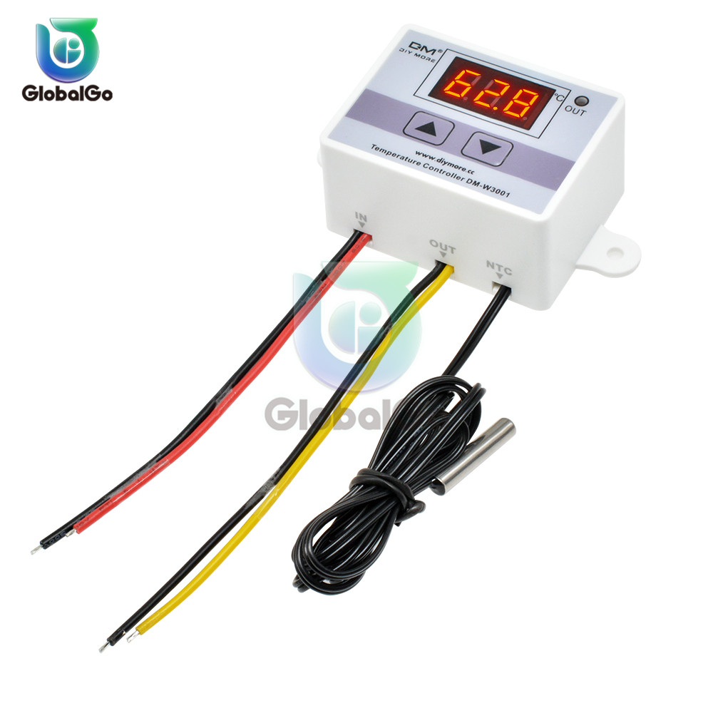 <font><b>XH</b></font> <font><b>W3001</b></font> Digital Temperature Controller Tester Meter Thermostat Thermoregulator Aquarium Water Temp Regulator 110V 220V 12V 24V image