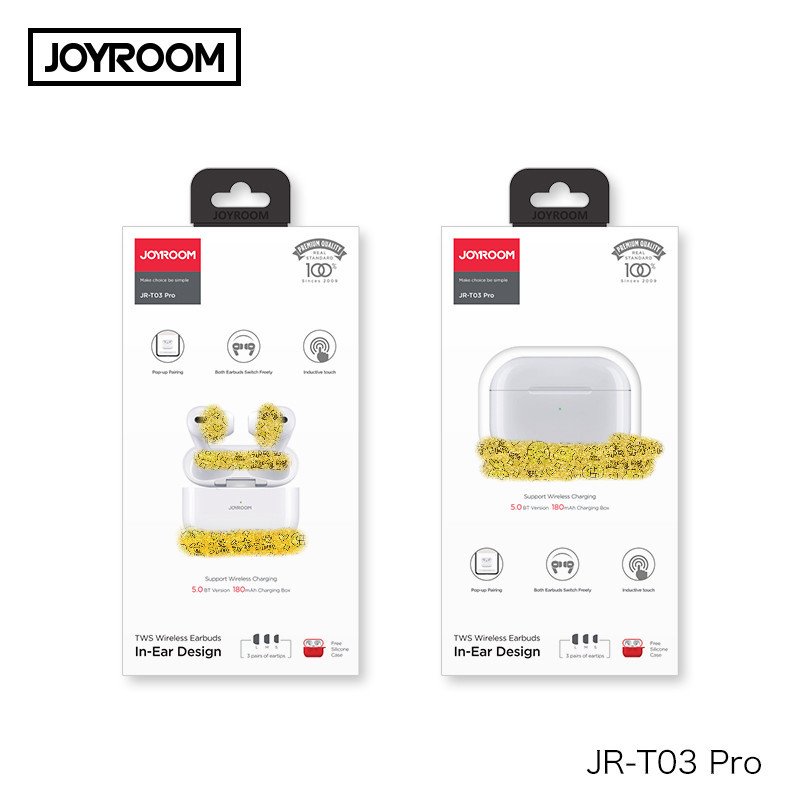 Joyroom New T03 Pro TWS  Bluetooth 5.0 Earphons Pop-Up Window Headset Wireless Charging The Third Generation For All Phones