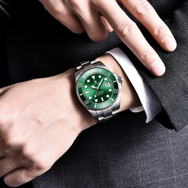 PAGANI Luxury Stainless Steel Waterproof Business Sport Mechanical Wristwatch 4