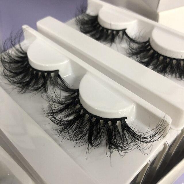 Buzzme Volume Mink Lashes Dramatic Fluffy 25mm Long Eyelashes Messy Reusable Cruelty Free Eye Lash 4