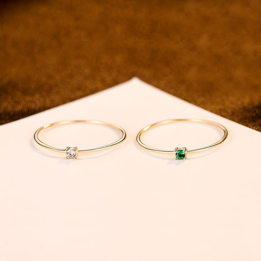 CZCITY nouveau luxe or Pur bijoux 14k or anneaux pour femmes fiançailles mariage or jaune 585 Anillos De Ouro Pur cadeaux R14145 - 4
