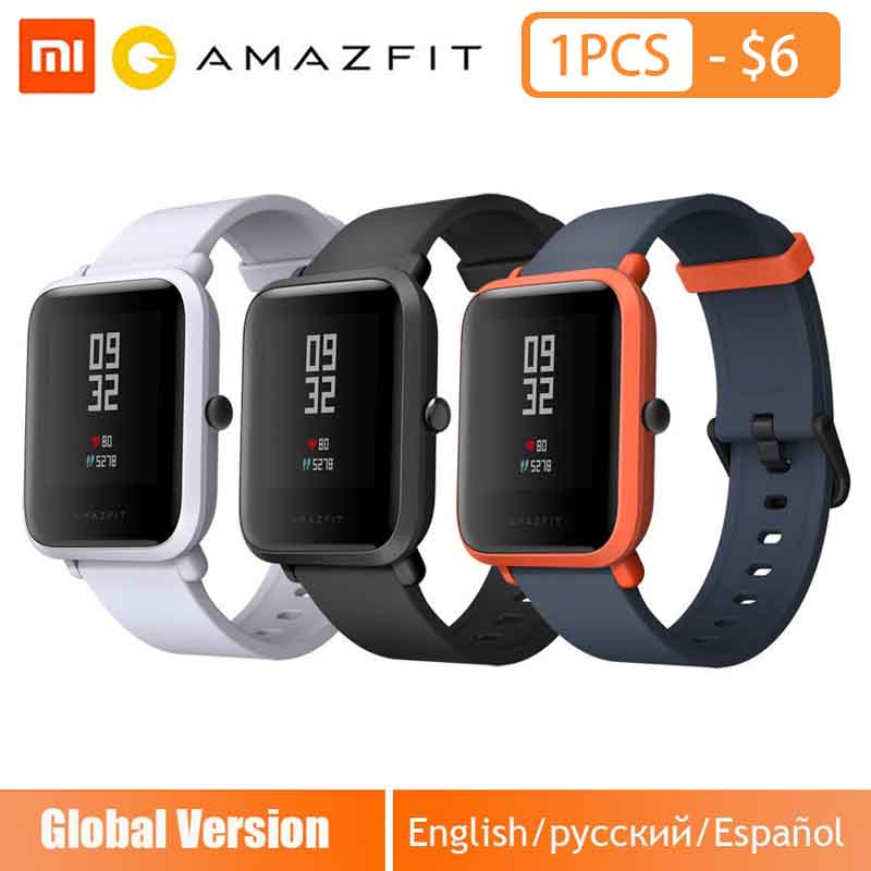 Huami Amazfit Bip Smart Horloge Engels/Spaans/Russisch GPS Smartwatch Android iOS Hartslagmeter xiaomi smartwatch-in Smart watches van Consumentenelektronica op  Groep 1