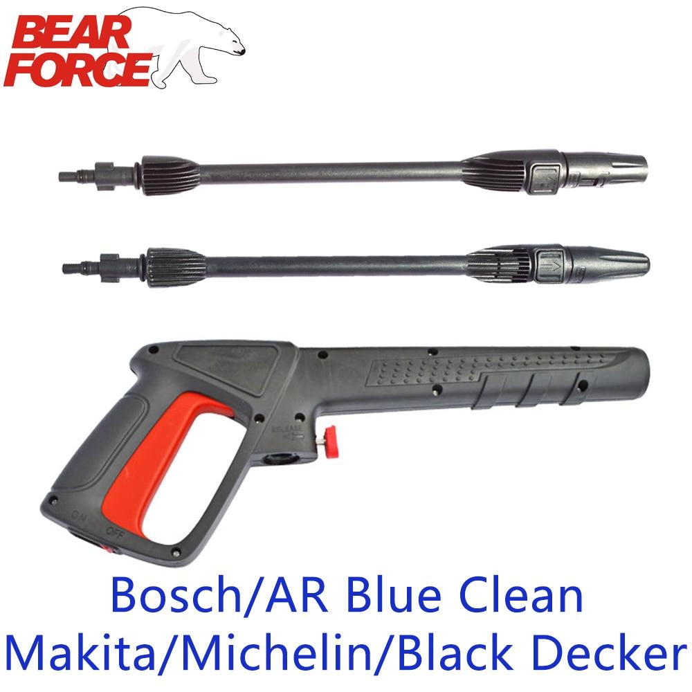 Мойка высокого давления, пистолет-распылитель, насадка для автомойки, пистолет для струйной воды, палочка для Bosch Black Decker AR Blue Clean Makita