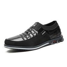 Mannen Echt Lederen Schoenen Hoge Kwaliteit Elastische Band Fashion Design Effen Vasthoudendheid Comfortabele Herenschoenen Grote Maten EU38 48Casual schoenen voor Mannen