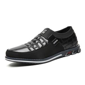 Men genuine leather shoes High Quality Elastic band Fashion design Solid Tenacity Comfortable Men's shoes big sizes EU38-48(China)