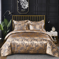 Duvet Cover & Pillow Shams Set Luxury Jacquard Pattern Silky Fabric 8 Size Single Double Full Queen King Size 200*200 240/220