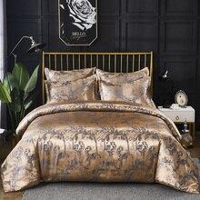 ผ้าคลุมเตียงและหมอน Shams ชุด Luxury Jacquard รูปแบบ Silky ผ้า 8 ขนาดเดี่ยว Queen King ขนาด 200*200 240/220