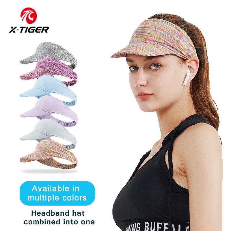 X-TIGER Sport Headband For Women Elastic Yoga Running Outdoor Headscarf Absorb Sweat Portable Visor Cycling Headwear Accessories