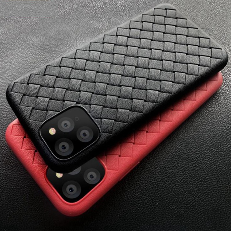 Weave Leather Pattern TPU Cases for iPhone 11/11 Pro/11 Pro Max