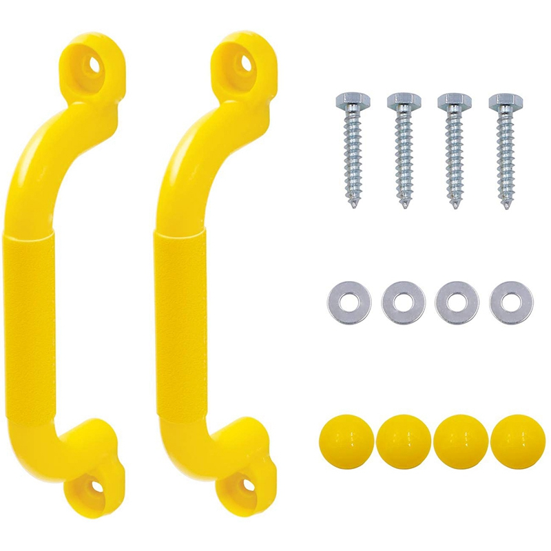 1 Double Yellow Safety Handrail Handle Solid Color Swing Set Child Safety Handle For Toy Combination Climbing Frame And Play Hou