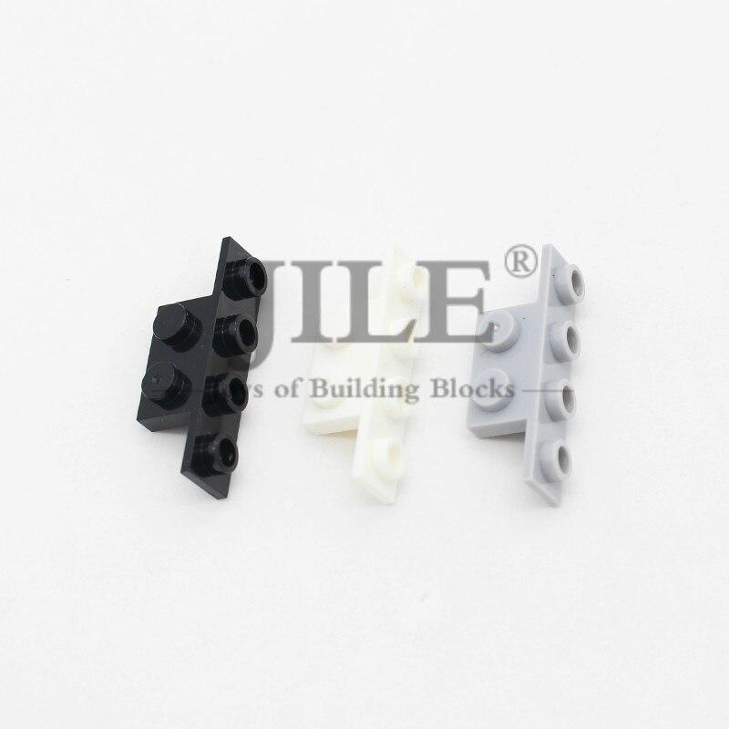 Bracket 1x2 - 1x4 Right Angle 2436 DIY Enlighten Building Blocks Bricks Bulk Compatible Assembles Particles Toys For Children
